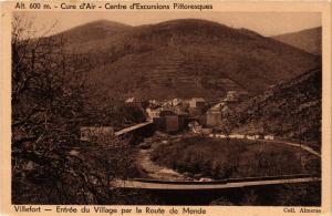CPA Villefort - Entrée du Village par la Route de Mende (638172)