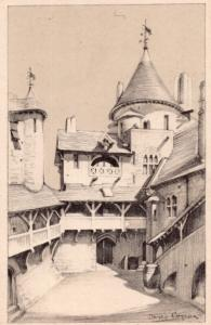 Castell Coch Welsh Well Tower Keep Tongwynlais Castle Old Postcard
