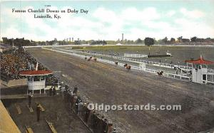 Famous Churchill Downs on Derby Day Louisville, Kentucky, KY, USA Unused