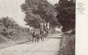 Sussex, Uk, 1900 -10s ; Coaching , Highway from Worthing to Littlehampton