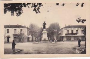Algeria Boufarik Statue du Sergent Blandan et la rue Duquesne Real Photo