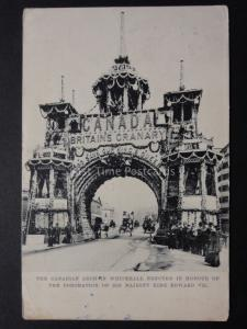 Royalty: Canadian Arch in Whitehall c1902 UB King Ed VII Coronation Raphael Tuck