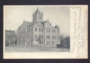 TRENTON MISSOURI GRUNDY COUNTY COURT HOUSE ANTIQUE VINTAGE POSTCARD MO. B&W