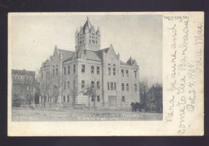 TRENTON MISSOURI GRUNDY COUNTY COURT HOUSE ANTIQUE VINTAGE POSTCARD MO. B&W