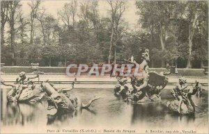 Postcard Old Park of Versailles (S and O) Basin Dragon