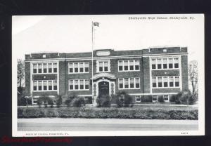 SHELBYVILLE KENTUCKY HIGH SCHOOL BUILDING ANTIQUE VINTAGE POSTCARD KY.