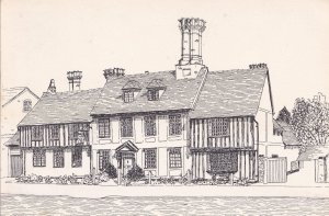 Nethergate Hotel Clare Suffolk Artist Drawing Postcar