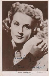 RPPC Anne Crawford Film Star (1920-1956) - Signed