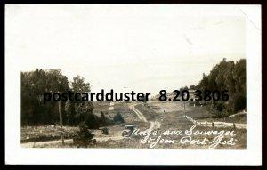 3806 - ST. JEAN PORT JOLI Quebec 1930s Anse aux Sauvages. Real Photo Postcard