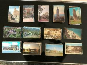 LARGE LOT OF 1000 STANDARD SIZE-UNITED STATES CHROME POSTCARDS FREE SHIPPING