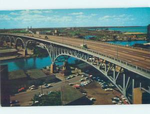 Unused Pre-1980 BRIDGE SCENE Cleveland Ohio OH H7683