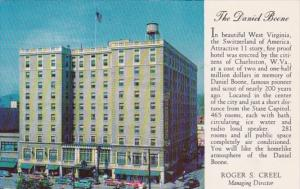 West Virginia Charleston The Daniel Boone Hotel 1954