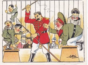 AS; 1930-1940's; Political Comic, Hitler Being Tamed In A Circus Cage
