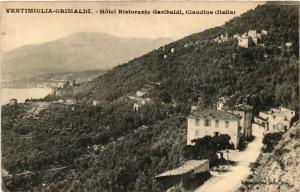 CPA VENTIMIGLIA GRIMALDI Hotel Ristorante Garibaldi Claudina. ITALY (530722)