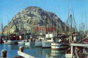 FISHING FLEET, MORRO BAY, CA. impressive Morro Rock