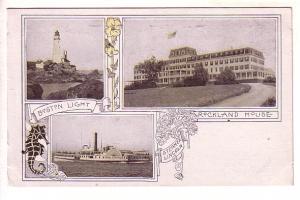 Boston Lighthouse, Rockland House, Steamer Lincoln, Massachusetts, New Englan...