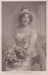 Ruth Vincent The Belle Of Britanny Beauty Queen Photo Postcard