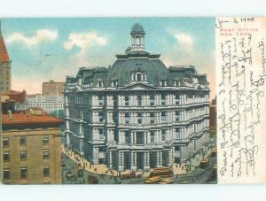 Pinhole Mark Pre-1907 early view - POST OFFICE New York City NY n6517
