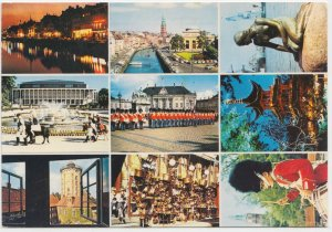 KOBENHAVN, COPENHAGEN, multi view, 1978 used Postcard