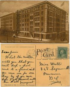 USA to Canada - YMCA Postcard used in 1912