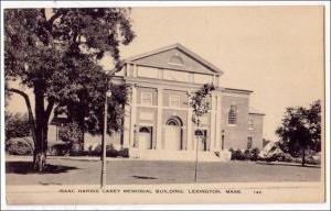 Isaac Harris Carey Memorial Bldg. Lexington MA