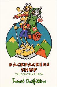 Backpackers Shop Vancouver British Columbia Canada