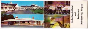Bi-Fold, Belle Meade Motel & Restaurant, Harrisonburg VA