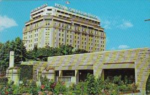 Canada Ontario Niagara Falls Rainbow Gardens Flower Display And Hotel Sherato...