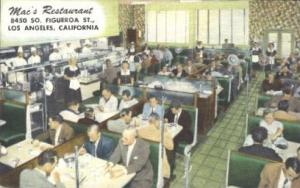Mac's, Los Angeles, California, USA Restaurant & Diner Postcard Postcards  Ma...