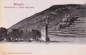 Maufethurm U. Ruine Ehrenfels, Bingen (Rhineland-Palatinate), Germany, 1910-1...