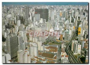 Postcard Modern Brasil Turistico Sao Paulo Aerial view of the city