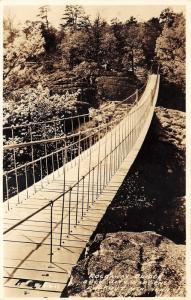Lookout Mountain Tennessee~Rockaway Bridge @ Rock City Gardens~c1930 RPPC