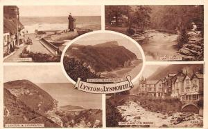 Lynton Lynmouth, The Tors from Fairholm Watersmeet Harbour Lighthouse