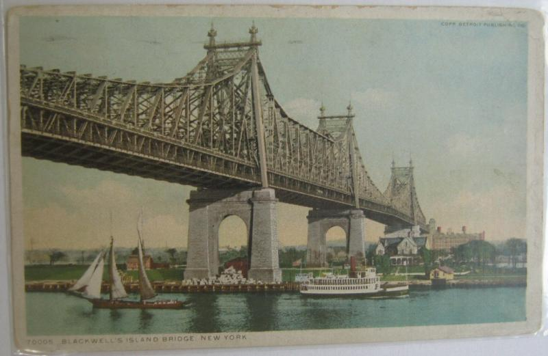 Blackwells Island Bridge NYC NY 1915 PHOSTINT 70005