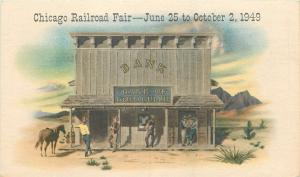 Chicago IL~Chicago Railroad Fair~June 25 To October 2 1949~Gold Gulch Bank~PC