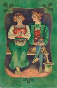 St Patrick's Day Greetings Romance Witty Conversation to Closer Relations pm1910
