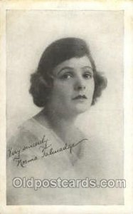 Norma Talavadge Theater Unused minor corner wear, yellowing on back from age