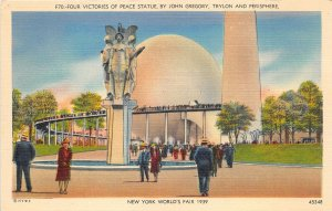 br106261 victories of peace statuejohn gregory trylon new york city