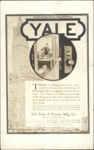 Yale & Towne Mfg Co Locks Hardware Real Photo Card NYC Backdrop
