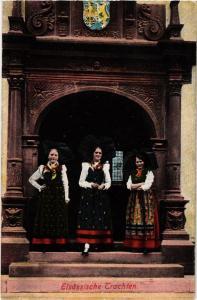 CPA AK Elsassische Trachten - Folklore - Types (481731)