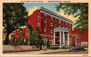 Virginia Fredericksburg Princess Anne Hotel Curteich
