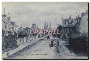 Old Postcard Bayeux Port en Bessin Road
