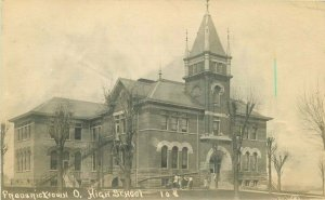 Fredericktown Ohio High School #108 1911 RPPC Photo Postcard 9453