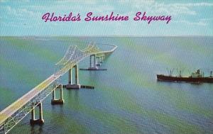 Florida's Sunshine Skyway Bridge Across Lower Tampa Bay