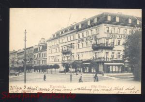 MARIENBAD GERMANY HOTEL KLINGER DOWNTOWN ANTIQUE VINTAGE POSTCARD