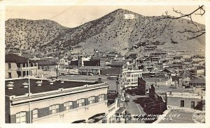 Bisbee AZ The Copper Mine City Bird's Eye View Real Photo Postcard