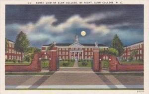 North Carolina Elon College South View Of Elon College By Night