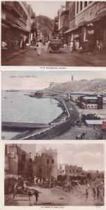 Aden Bazaar Market Post Office Bay Yemen & Unique Frank 3x Old Postcard s