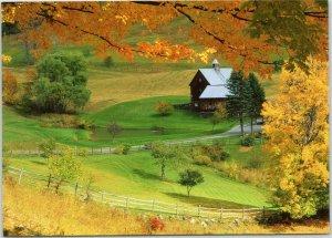 Sleepy Hollow Farm - Woodstock Vermont postcard