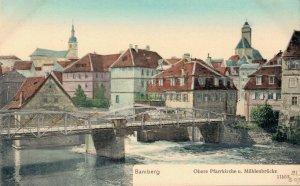 Germany Bamberg Obere Pfarrkirche u. Mühlenbrücke 03.87